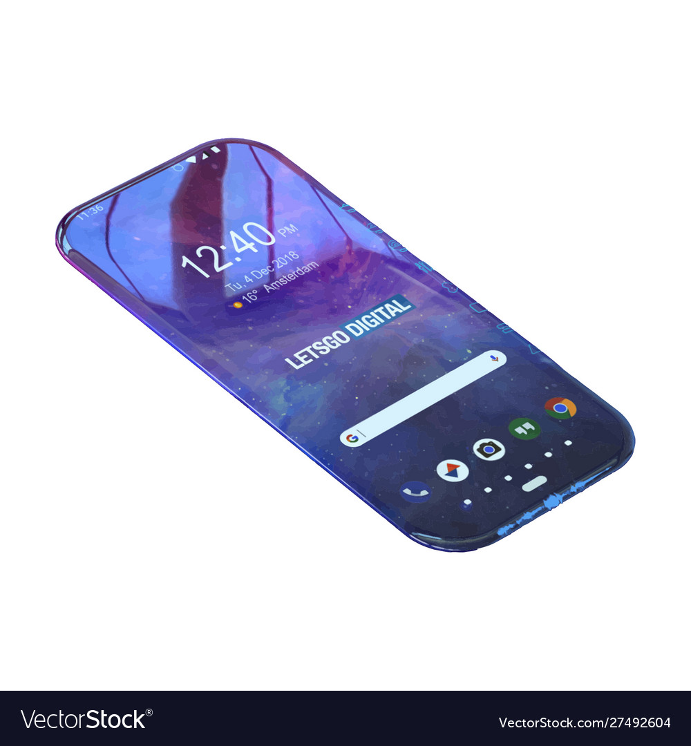 Image a smartphone on a white background the