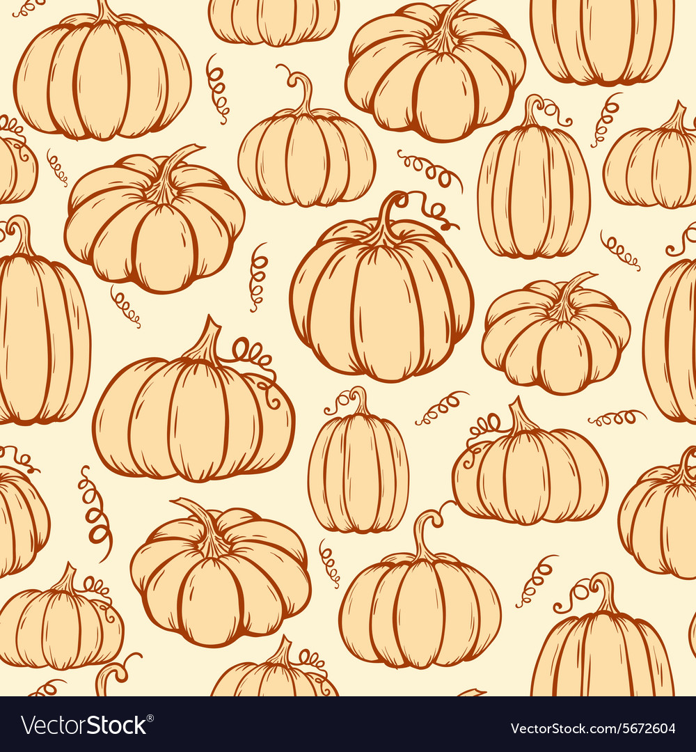 Pattern of pumpkins