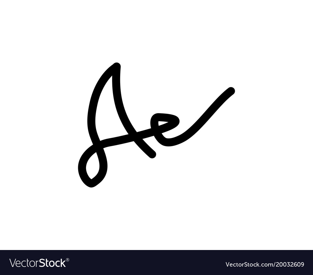 A letter signature logo vector image