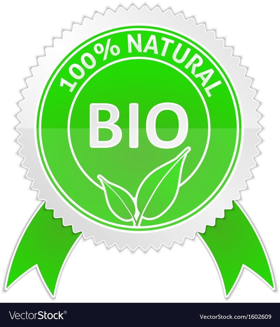 Badge of 100 percents Natural