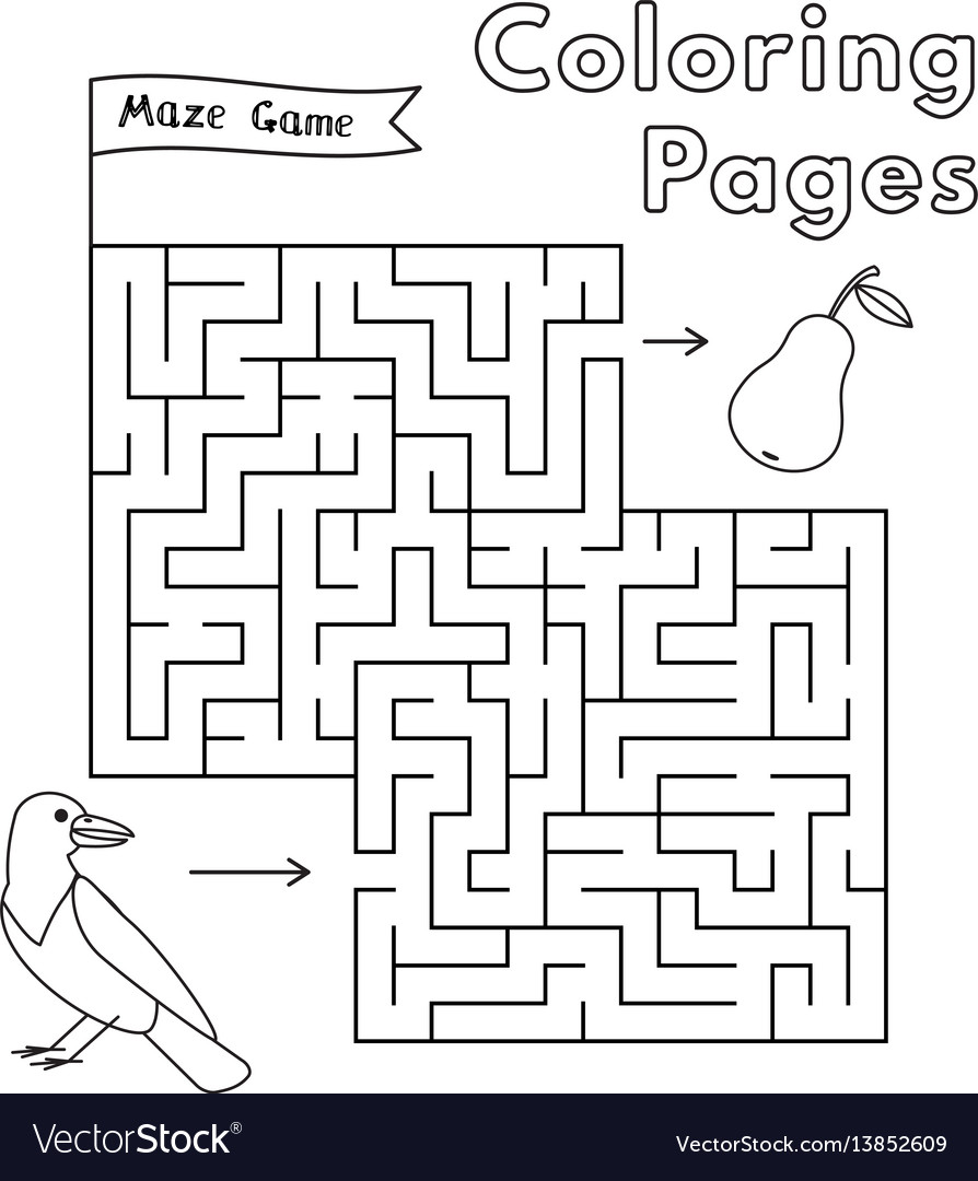 Cartoon crow maze game