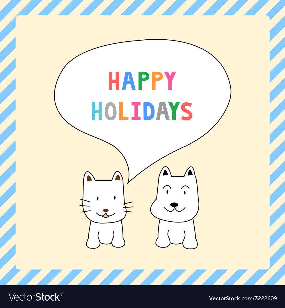 Happy holidays13 vector image