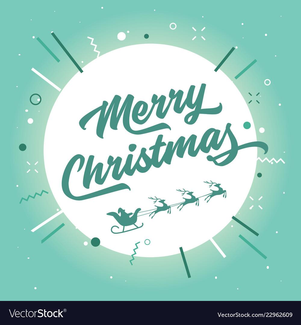 Merry christmas santa claus and reindeer