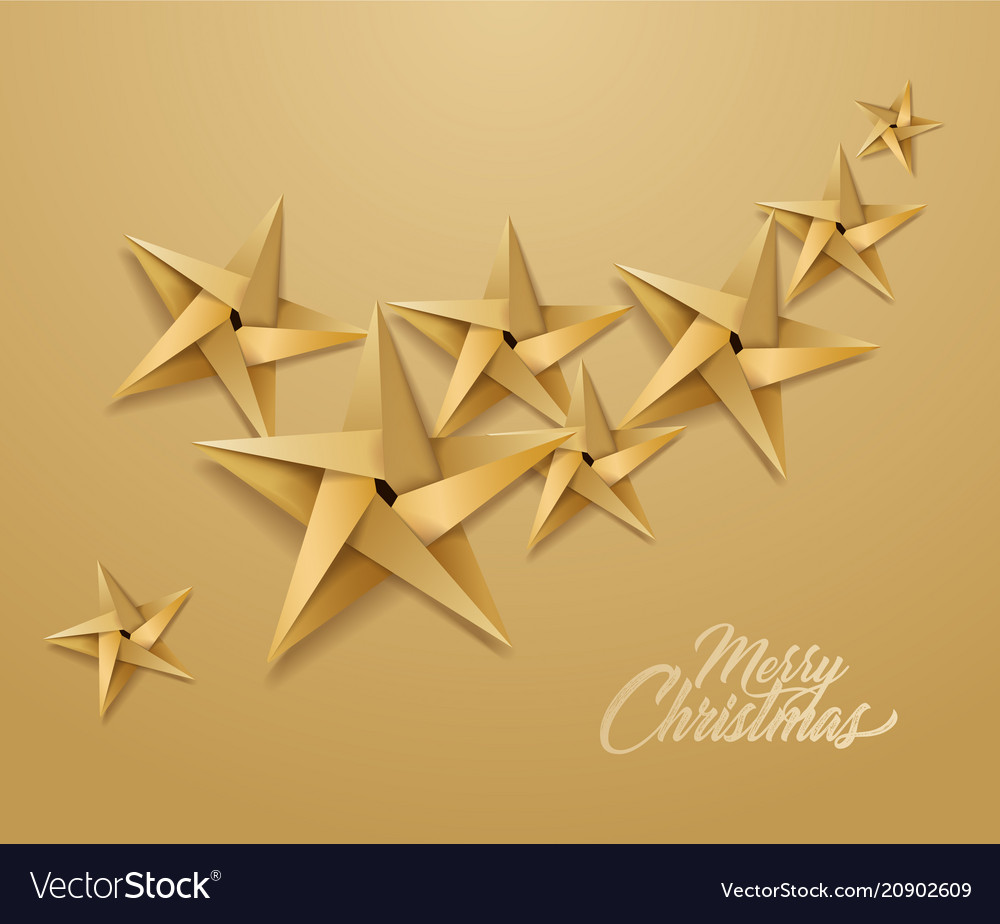 Origami paper christmas holiday star