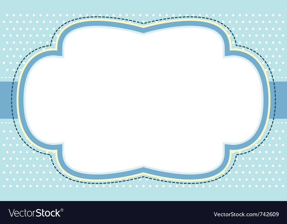 Ornate blue bubble frame vector image