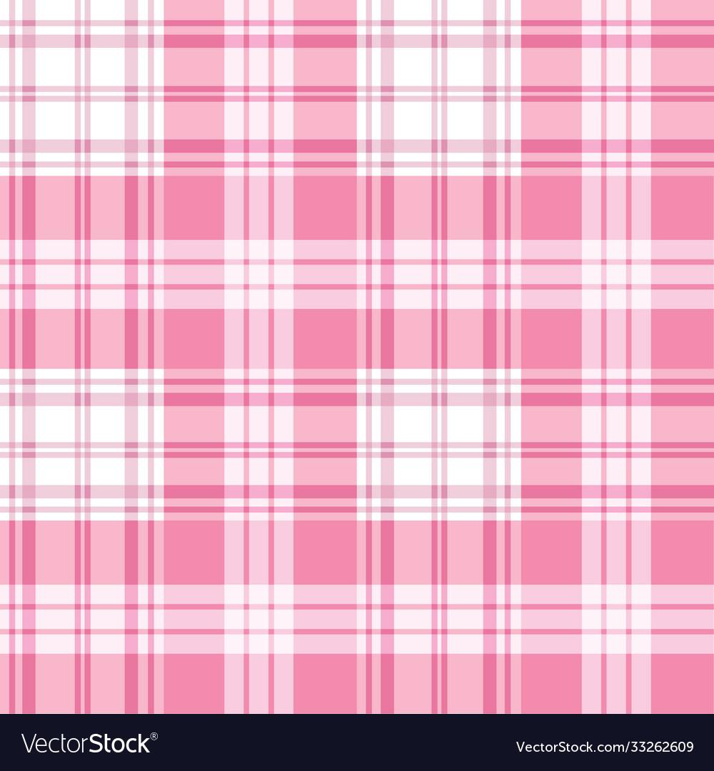 Pink seamless tartan plaid background checkered