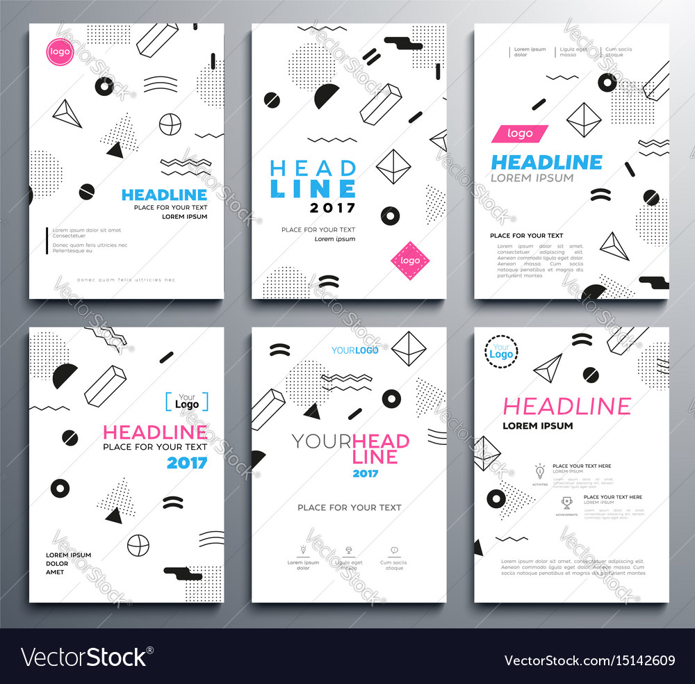 presentation booklet covers template royalty free vector