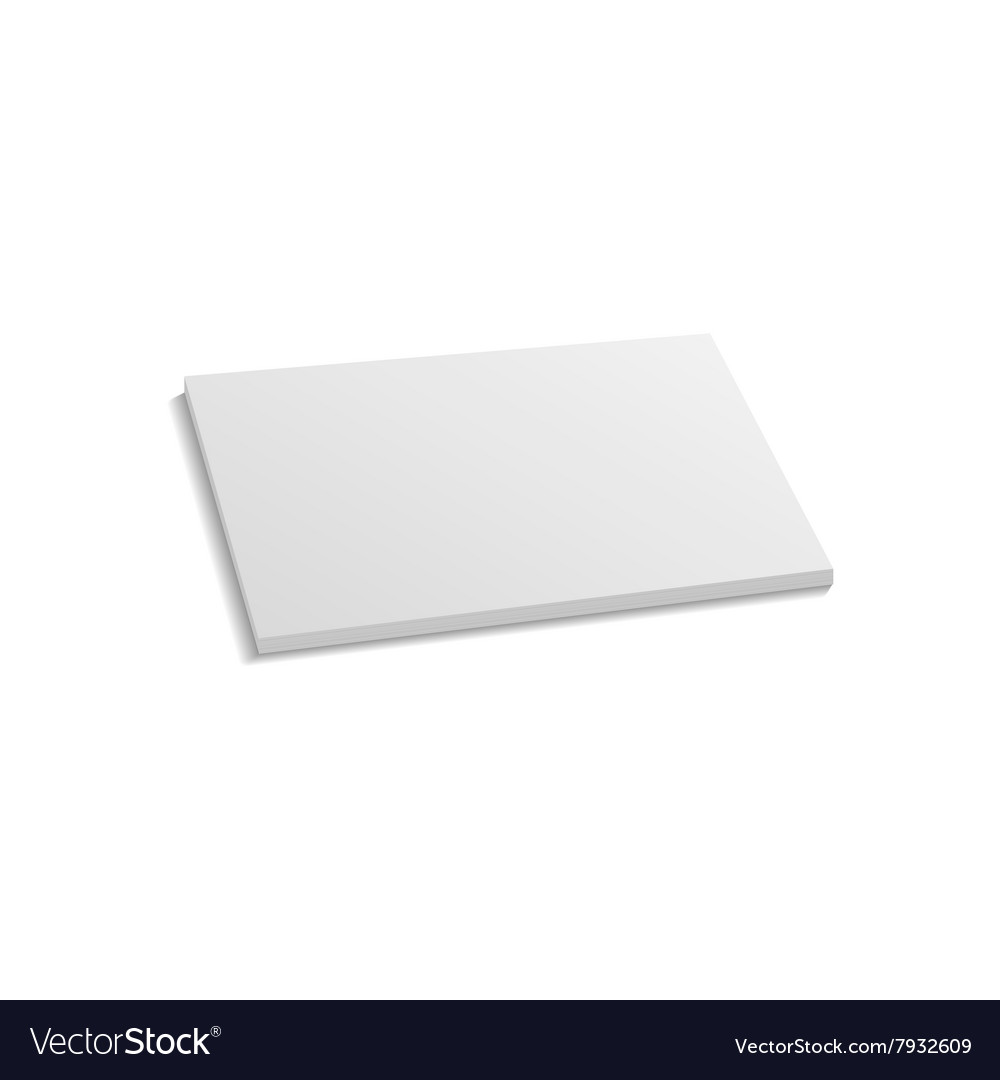 realistic stack of paper sheets royalty free vector image