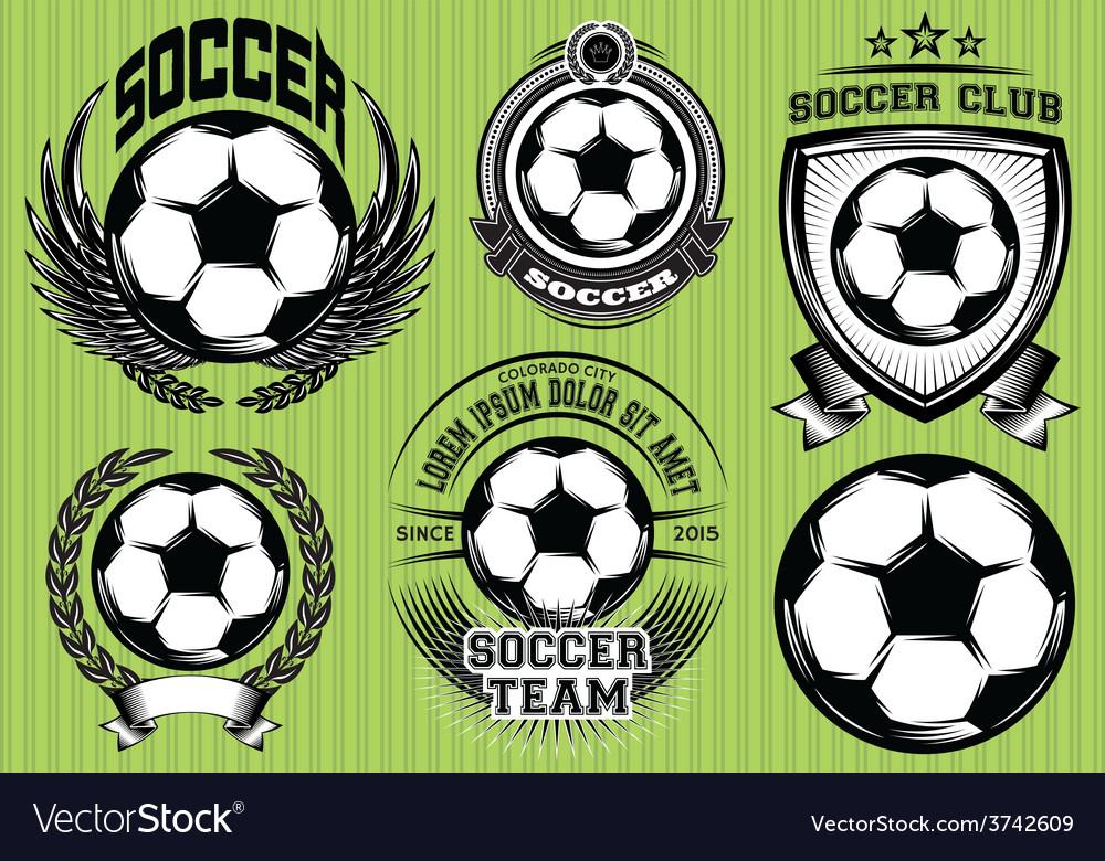 Set soccer football badge logo design templates
