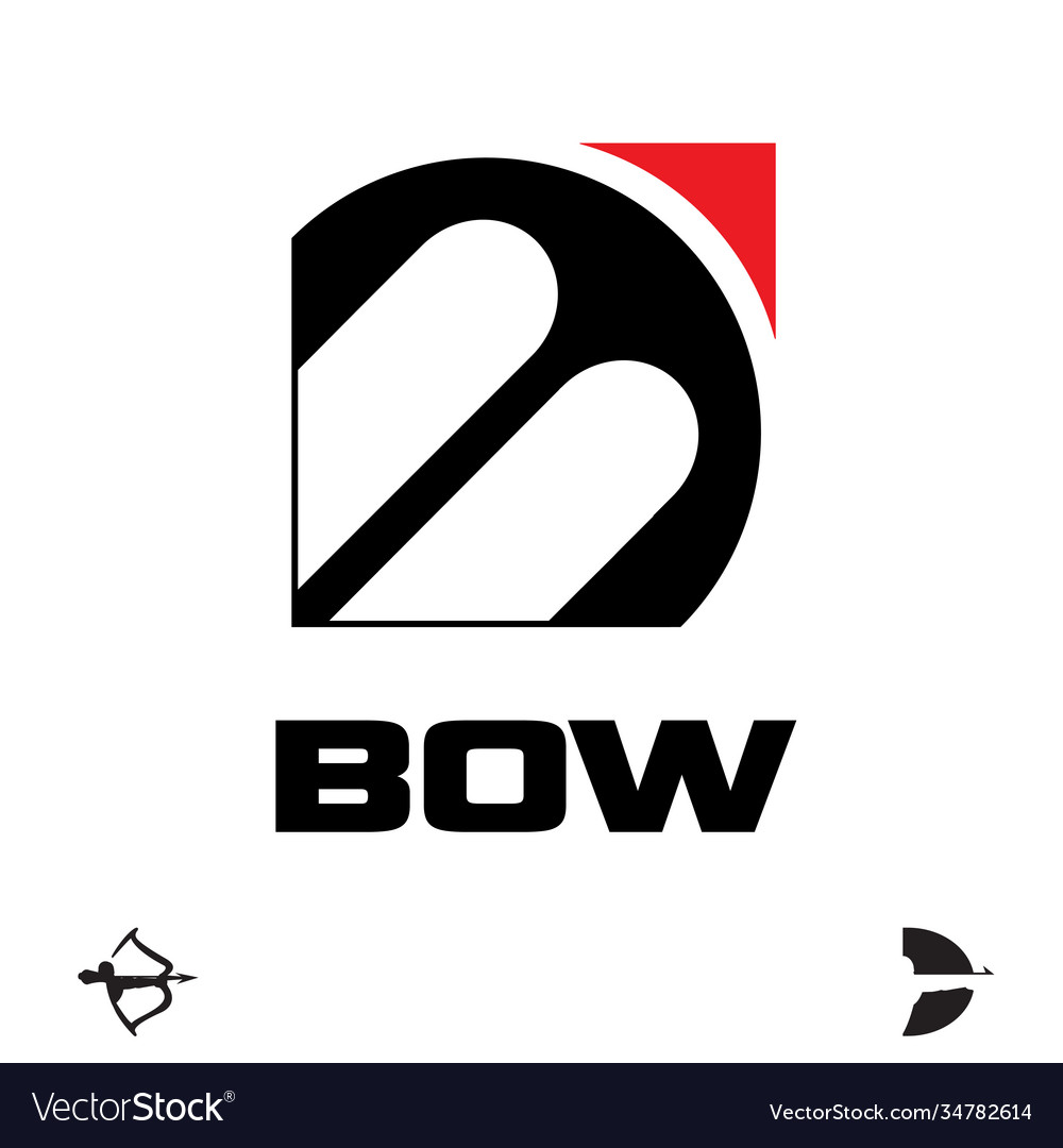 B letter based symbol bow and archery concept