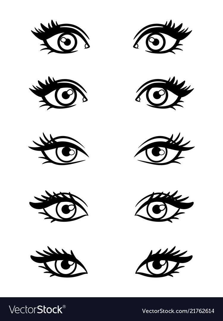 Cartoon character female eyes