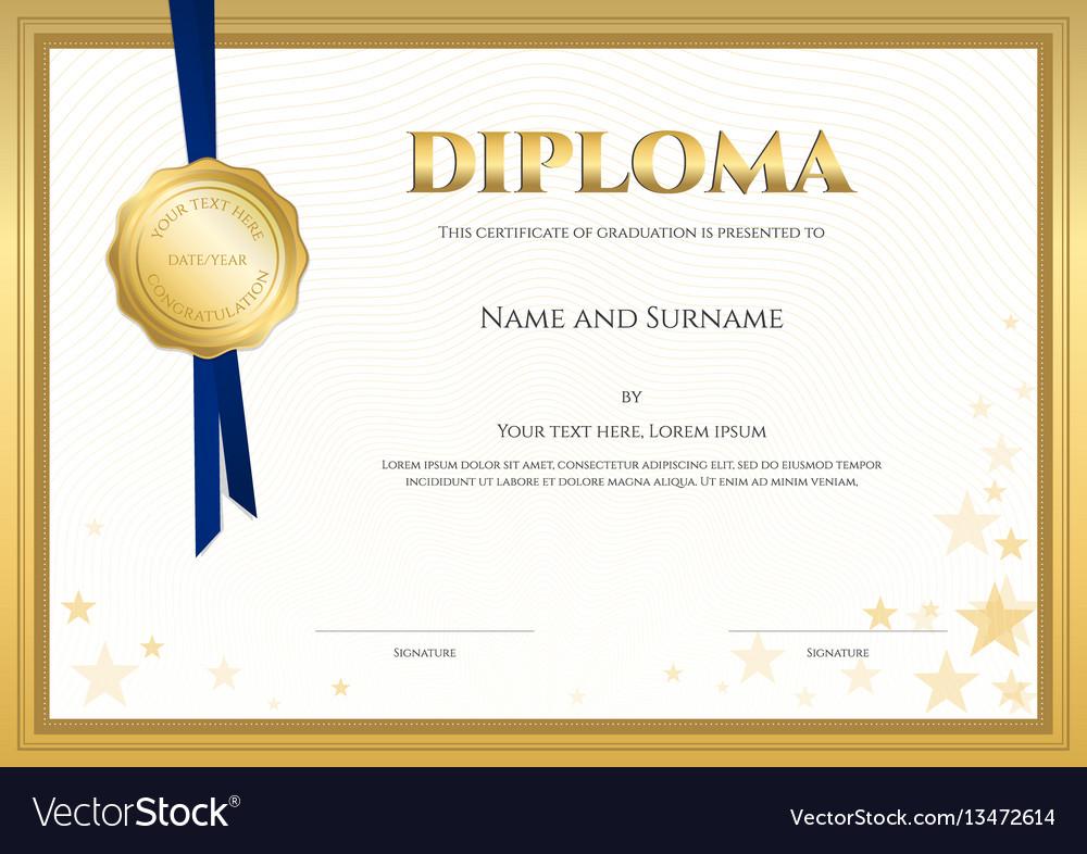 Elegant Diploma Certificate Template Royalty Free Vector