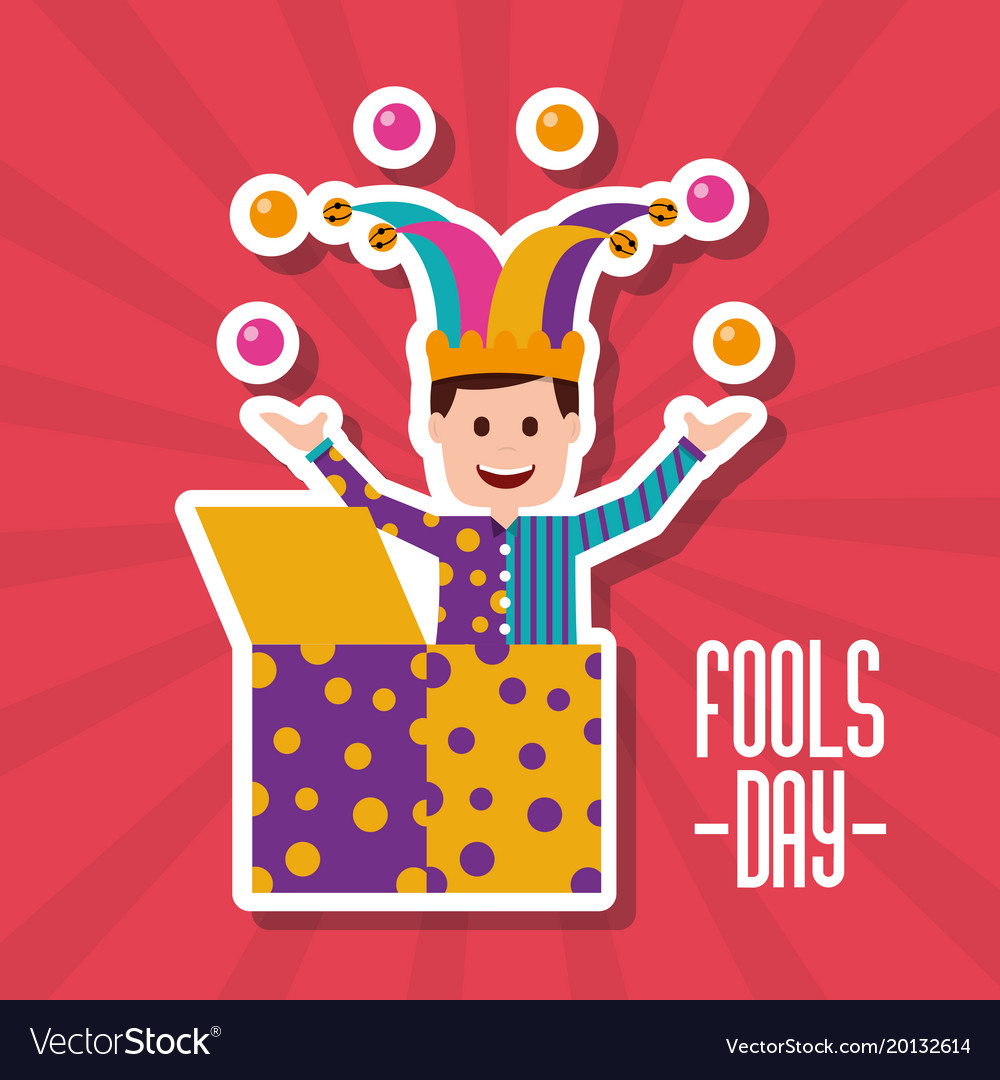Fools Day Greeting Card Royalty Free Vector Image