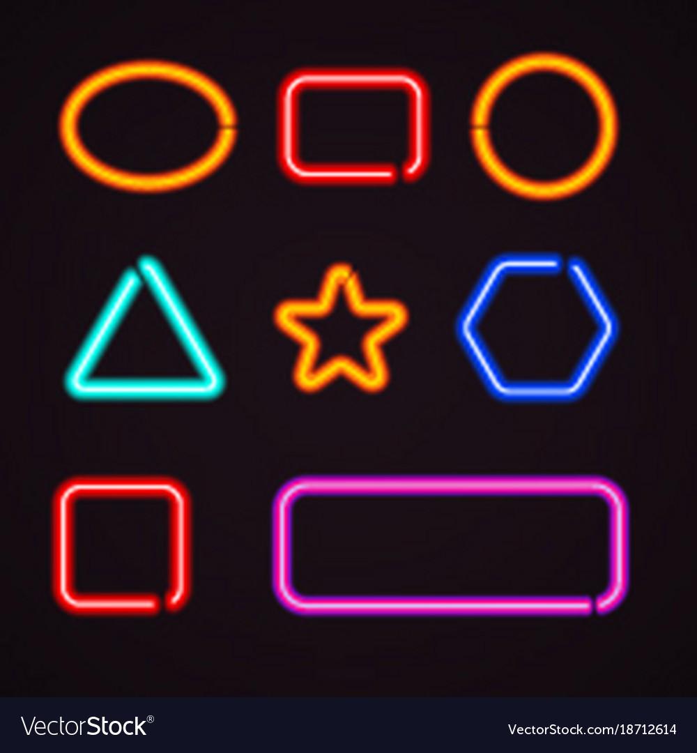 Neon light borders