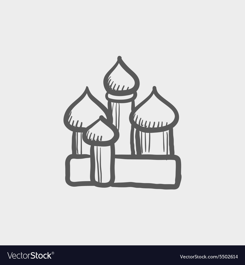 Saint Basil cathedral sketch icon