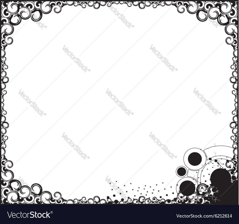 Swirl borde background