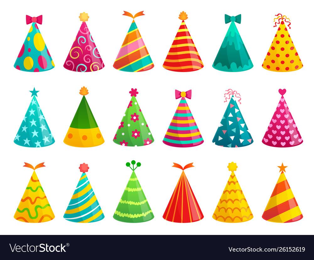 Cartoon birthday party caps funny celebration cap