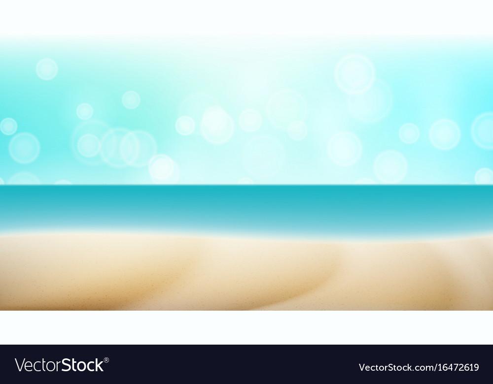 Empty tropical beach background seascape