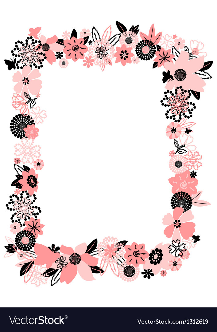 Frame from abstract flowers