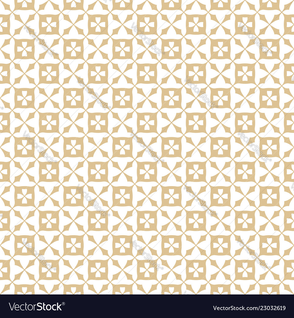 Golden floral abstract geometric seamless pattern