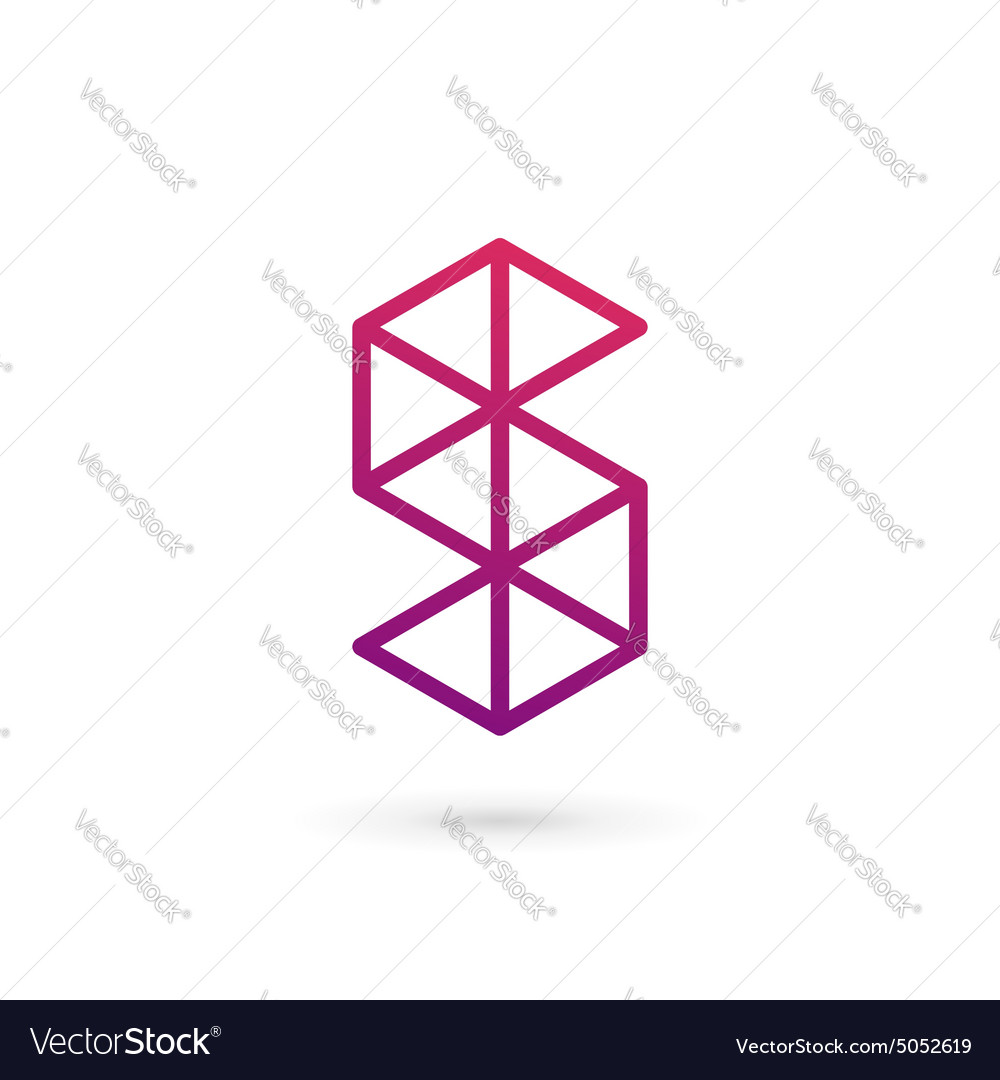 Letter S number 5 logo icon design template
