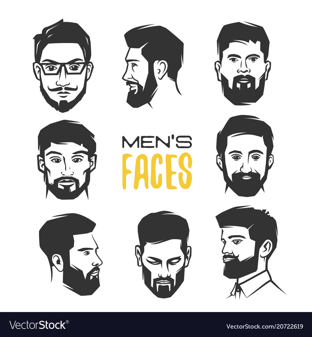 Mans face with beard