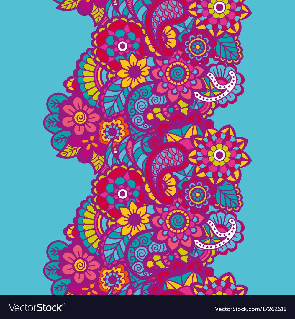 Mehndi ribbon paisley design