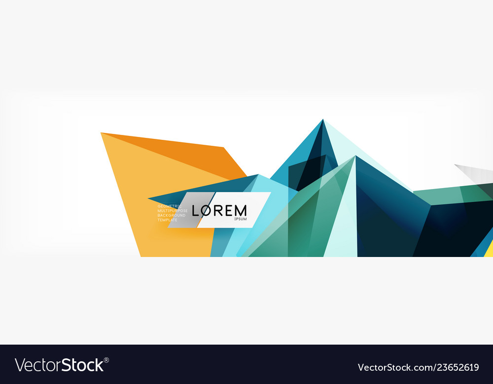 Mosaic triangular low poly style abstract