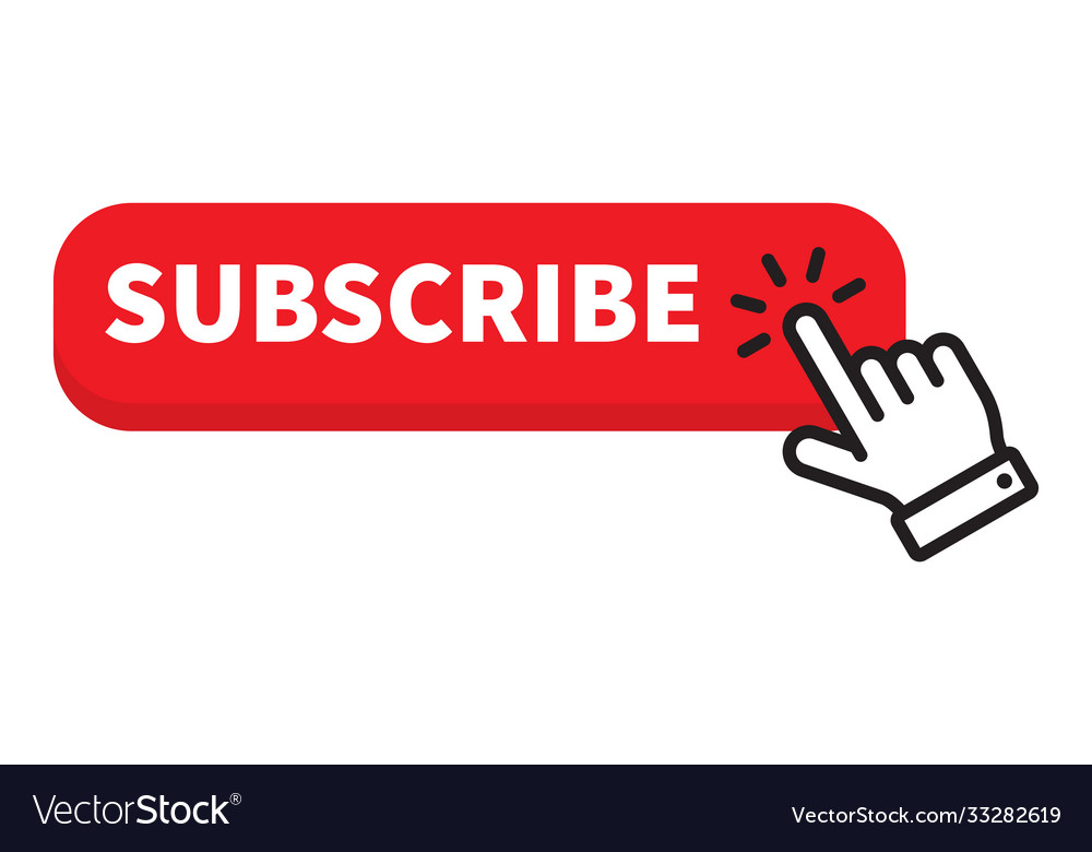Subscribe red button click cursor or pointer