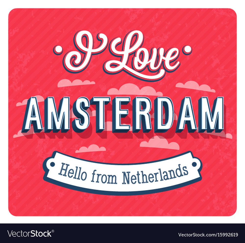Vintage greeting card from amsterdam