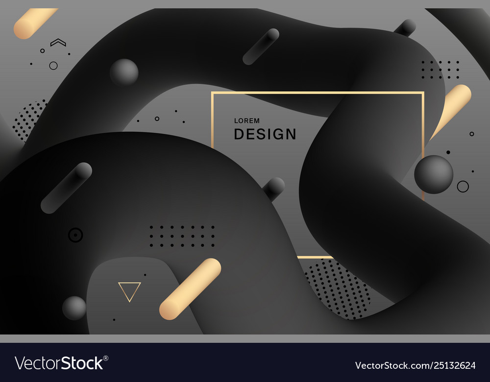 Abstract black design gradient geometric colorful