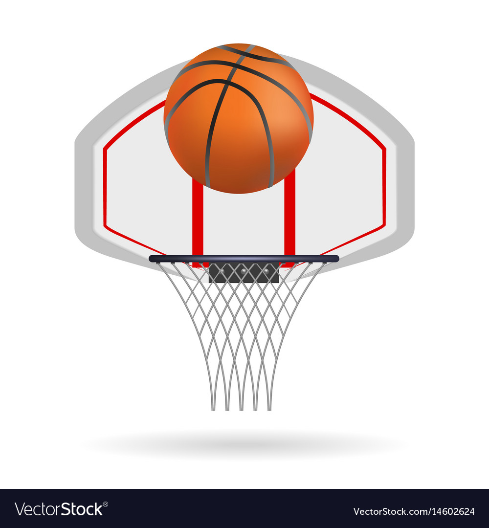 Basketball ring isolated on white background vector image