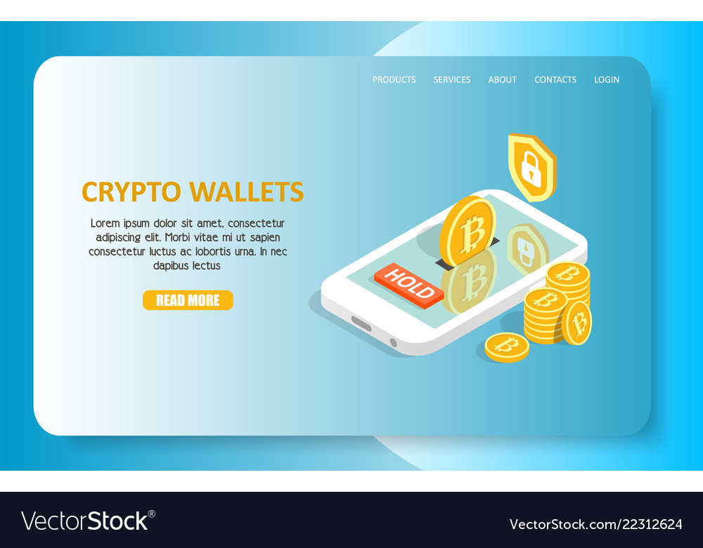 Crypto wallets landing page website