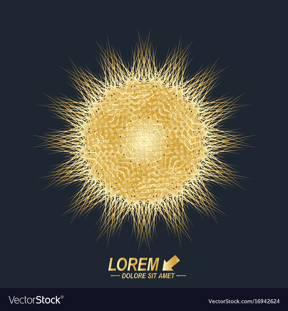 Fractal golden element virtual background