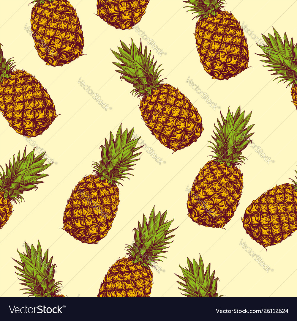 fruit pineapple seamless texture wallpaper vector 26112624