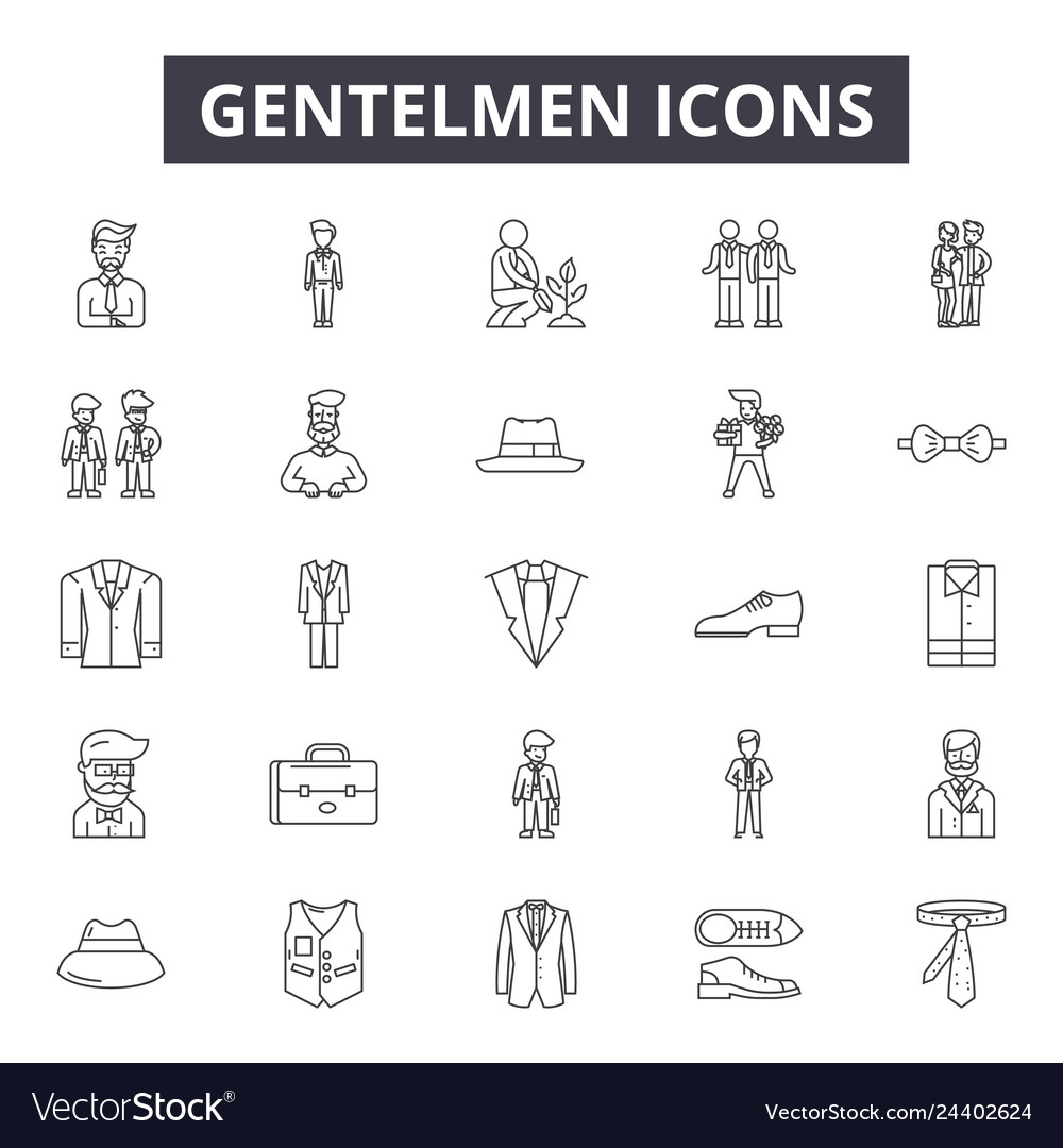 Gentelmen icon line icons for web and mobile
