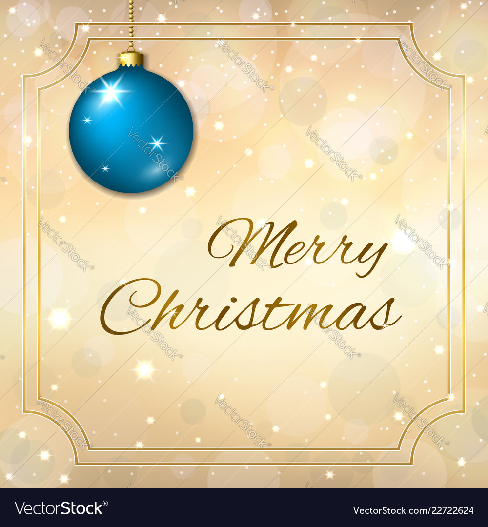 Merry christmas decoration background in gold