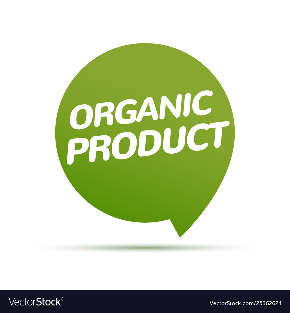 Organic product icon background eco nature health