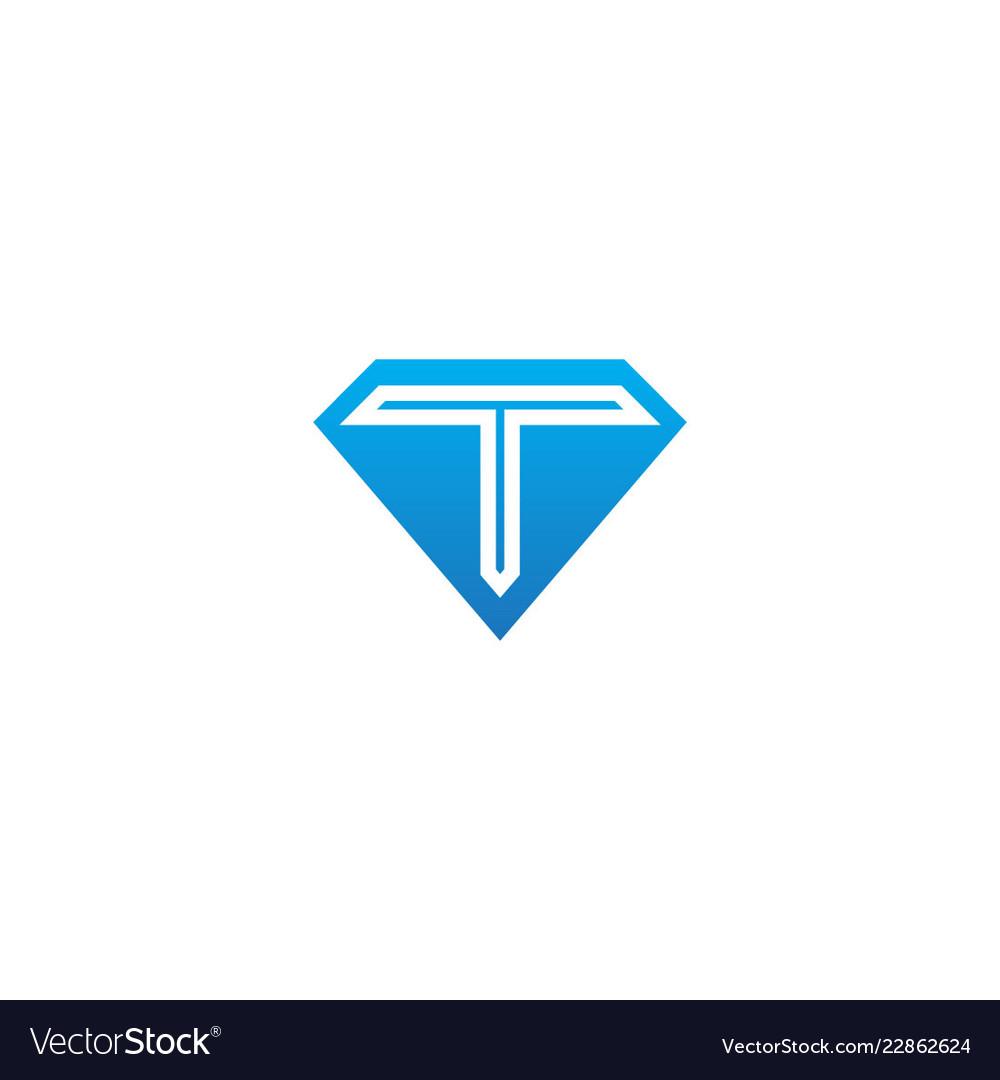 T initial diamond shape company logo