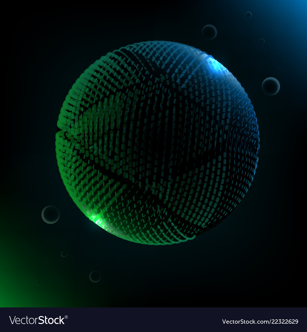 Abstract technology 3d sphere futuristic planet