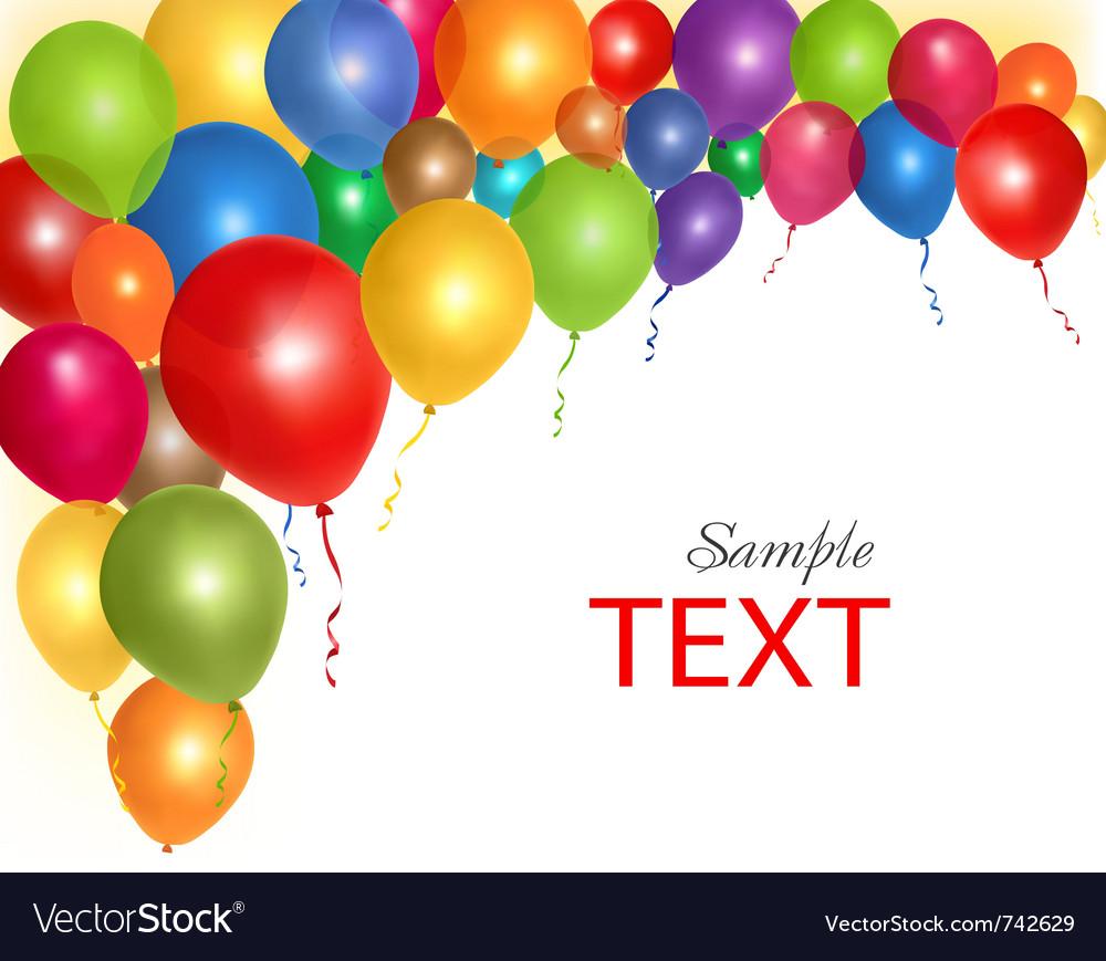 balloons frame composition royalty free vector image rh vectorstock com vector balloons png vector balloons png