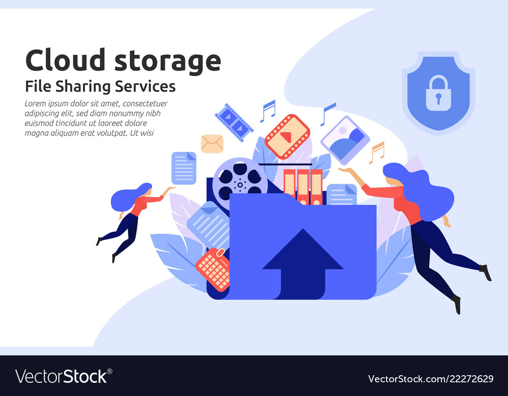 Cloud storage service file sharing center service