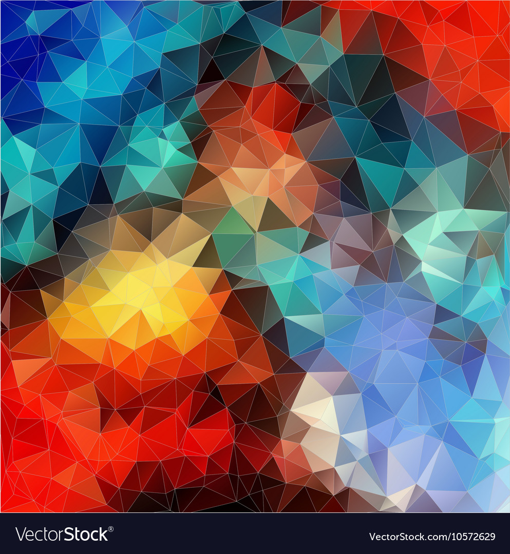 Color Abstract Mosaic Triangle Geometric