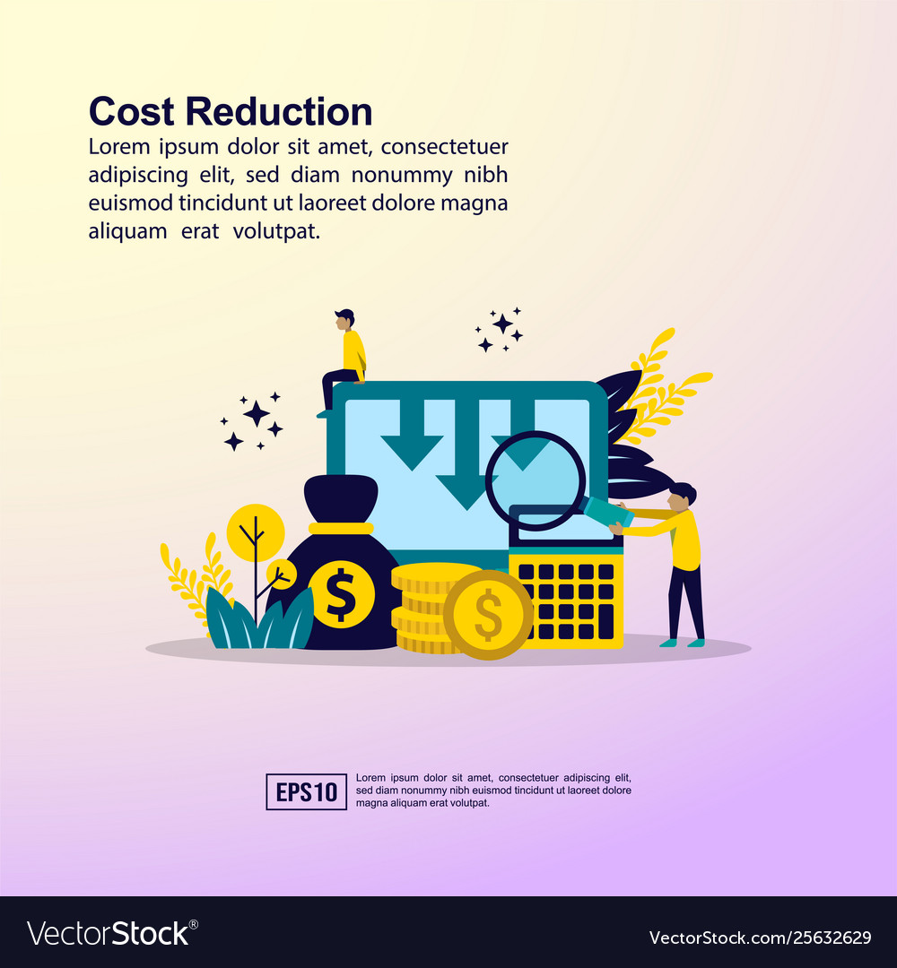 Cost reduction concept with character template
