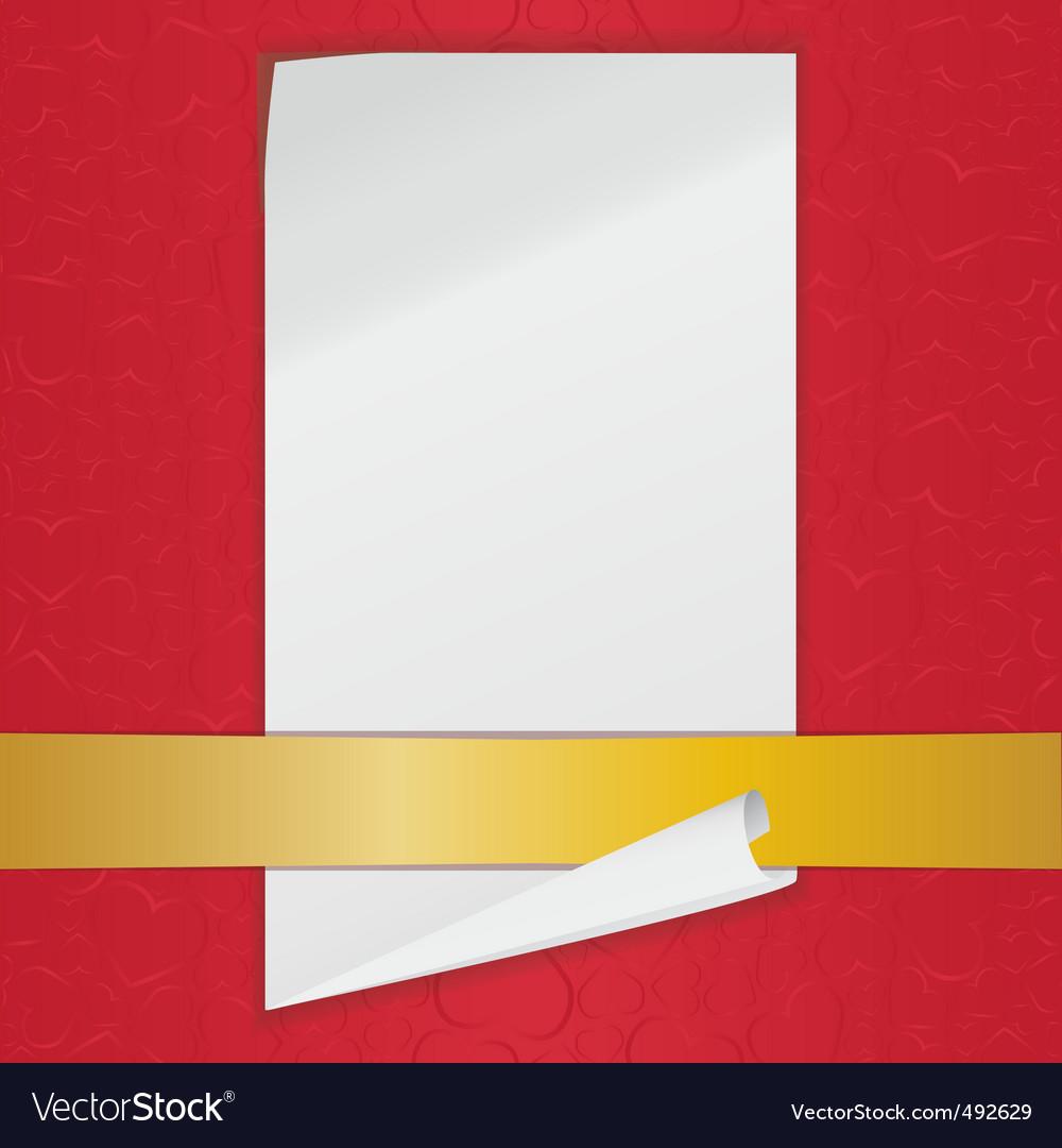 Empty sheet vector image