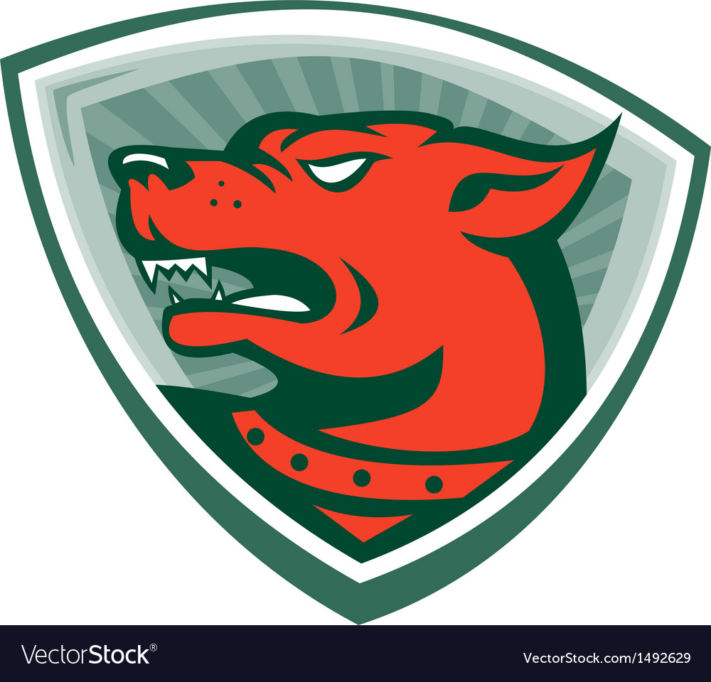 Mastiff Dog Mongrel Head Crest vector image