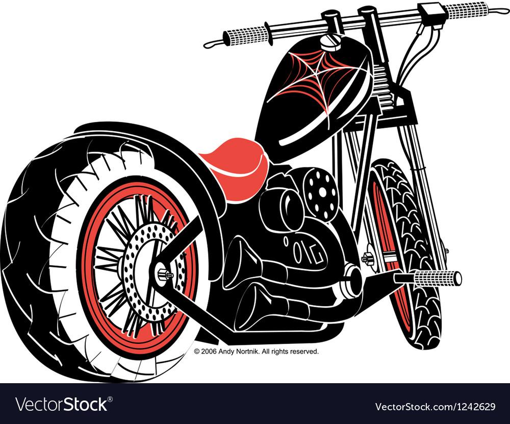 Motorcycle vector image