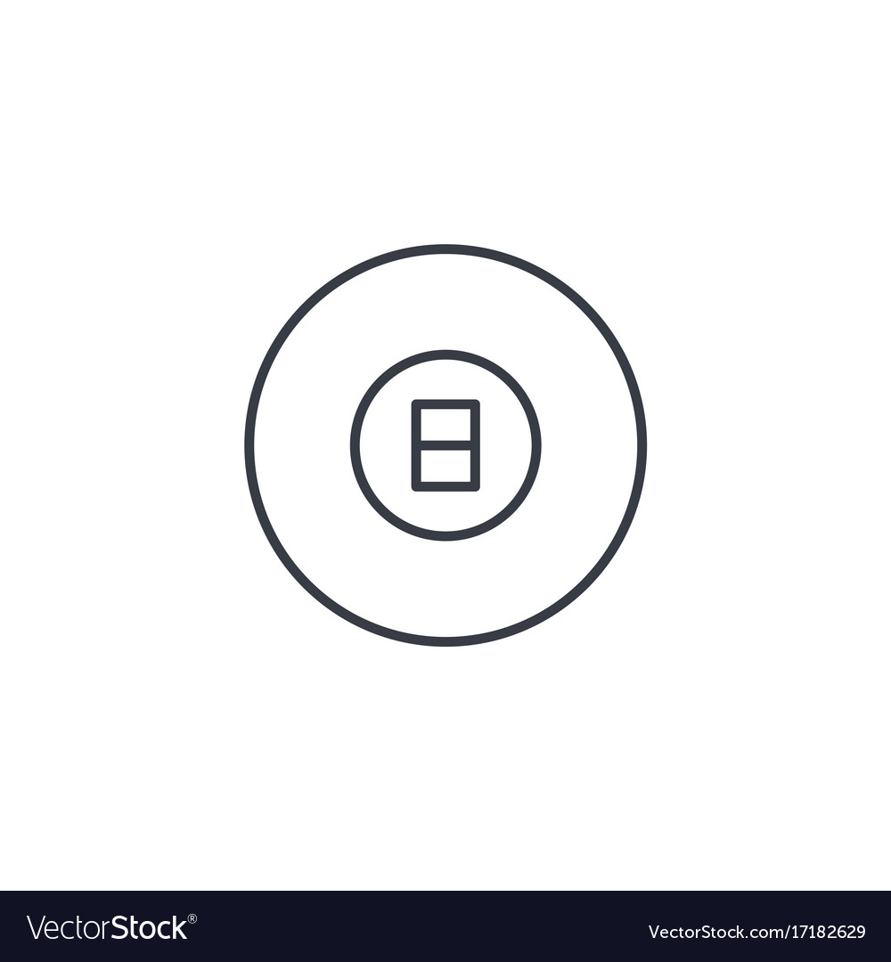 Pool 8 ball billiard symbol thin line icon