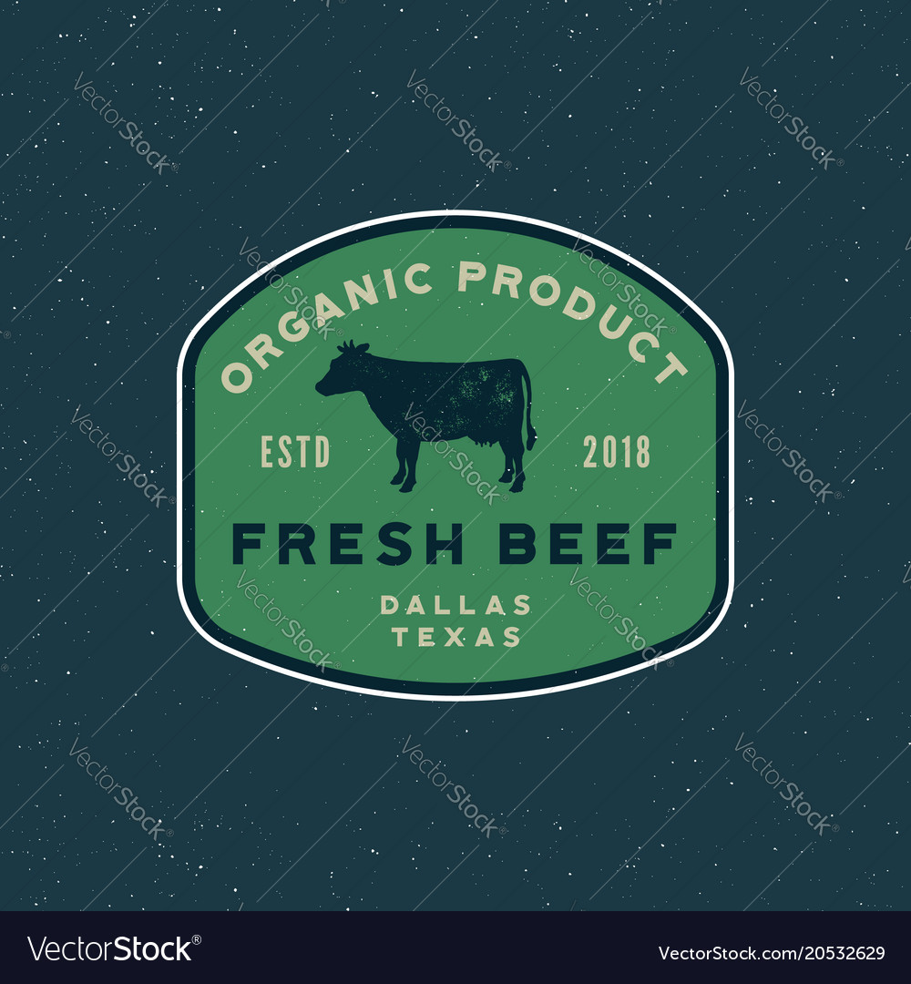 Premium fresh beef label retro styled meat shop