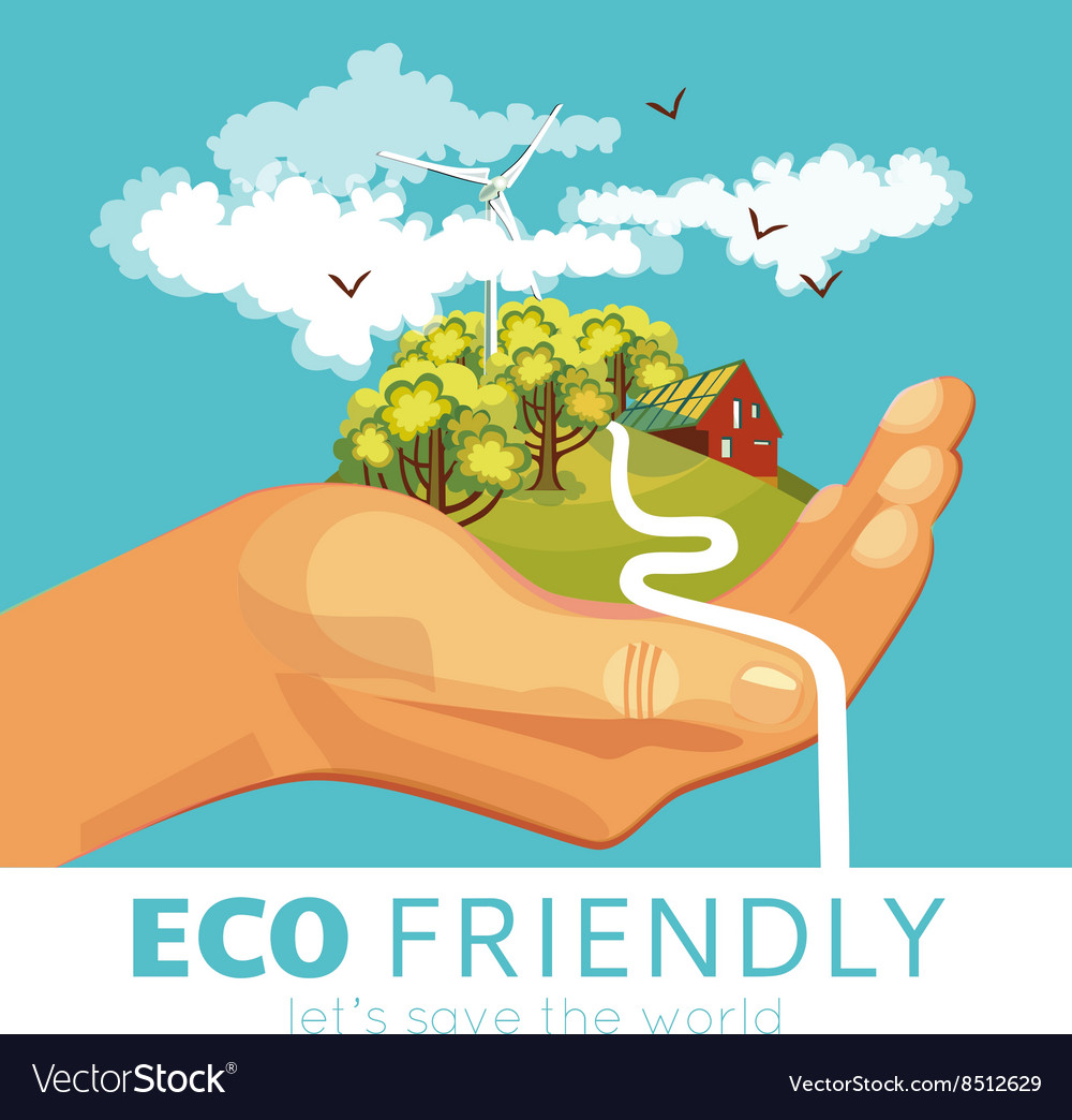 Saving Of Environment Poster Royalty Free Vector Image